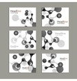 Science cover template background with molecules vector image