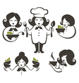 cooking women vector image