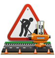 Surveying Concept with Sign vector image