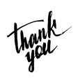 thank you handwritten inscription vector image