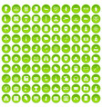 100 crime icons set green circle vector image vector image