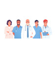 a medical team group of vector image vector image
