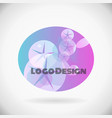 abstract design element new spa logo vector image vector image
