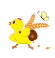 Abstract image of a chicken with wheat vector image vector image