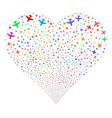 airplane fireworks heart
