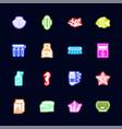 aquarium - flat icons vector image vector image