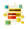 bank cards vector image