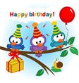 bird celebrating birthday vector image vector image