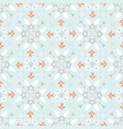 blue and orange winter star ornamental seamless vector image vector image