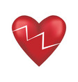 broken red love heart vector image vector image