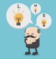 business concept cartoon african businessman vector image vector image