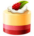 Cake with rasberry and cream vector image vector image
