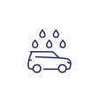 car wash line icon on white vector image vector image