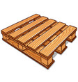 cartoon wood pallet isolated vector image vector image