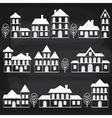 Chalkboard Houses vector image