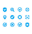 check marks ticks set checkmark vector image
