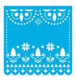 christmas papel picado design template vector image