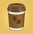 coffee cup pop art vector image