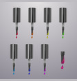 colorful dots nail polish bright colors isolated vector image vector image