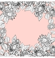 daisy flowers frame vector image vector image