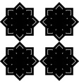 design seamless monochrome snowflake pattern vector image vector image