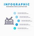 drum celebration blue infographics template 5 vector image vector image