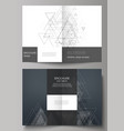 editable layout of two a4 format cover vector image vector image