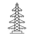 electricity icon outline style vector image vector image