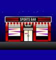 exterior modern design sports bar vector image vector image