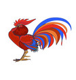 farm cock icon cartoon cock isolated vector image vector image