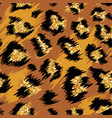 fashionable leopard seamless pattern spotted vector image