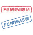feminism textile stamps vector image vector image