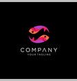fish abstract icon design logo template company vector image vector image