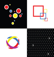 four abstract symbol vector image
