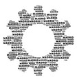 gearwheel composition of madrid text icons vector image vector image