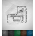 graduation hat on the Enter-key icon vector image vector image