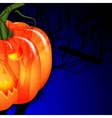 halloween and pumpkin vector image vector image