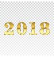 happy new year golden numbers vector image vector image