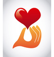 heart design vector image