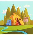Hiking And Tent vector image vector image
