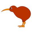kiwi bird on white background vector image