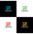 letter n logo icon flat and design vector image