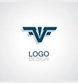 letter v wing logo vector image vector image