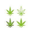 Marijuana leaf logo template
