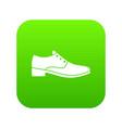 men shoe icon digital green vector image vector image
