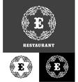 Monogram logo template vector image vector image