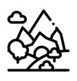 mountain landscape icon outline vector image vector image