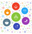 noodles icons vector image vector image