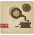 old background with gramophone and record vector image vector image