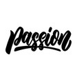 passion lettering phrase isolated on white vector image vector image